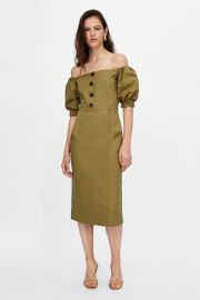 Off the Shoulder Dress by Zara at Zara