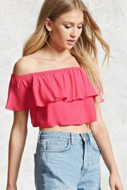 Off-the-Shoulder Flounce Top   Forever 21 - 2000134437 at Forever 21