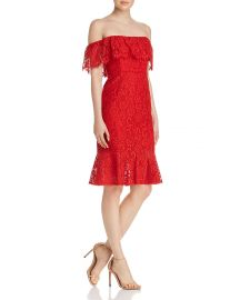 Off-the-Shoulder Lace Dress Bcbgmaxazria at Bloomingdales