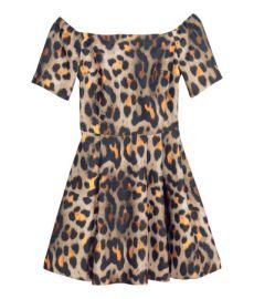Off-the-shoulder Dress in Leopard Print at H&M
