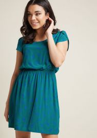Oh My Gosh A-Line Dress in Navy Dinos at ModCloth