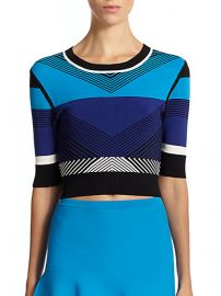 Ohne Titel - Chevron Cropped Sweater at Saks Fifth Avenue