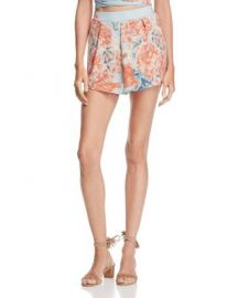Olivaceous High-Waist Floral Shorts at Bloomingdales