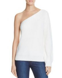 Olivaceous One Shoulder Sweater White at Bloomingdales