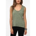 Olive green studded tank top from Urban Outfitters at Urban Outfitters