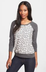 Olivia Moon Textured Sweatshirt in Stars at Nordstrom