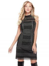 Olivia Textured dress at Guess