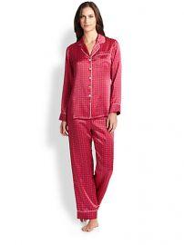Olivia Von Halle - Printed Silk Satin Pajama Set br at Saks Fifth Avenue