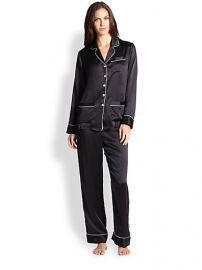 Olivia Von Halle - Silk Satin Pajamas at Saks Fifth Avenue
