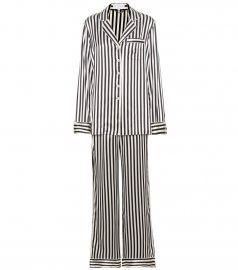 Olivia von Halle Lila Nika striped silk-satin pyjamas at Mytheresa