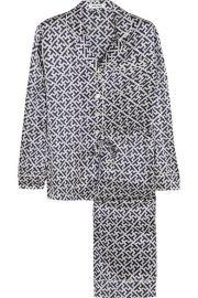 Olivia von HalleandnbspandnbspLila Keiko printed silk-satin pajama set at Net A Porter