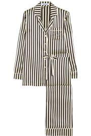 Olivia von HalleandnbspandnbspLila Nika striped silk-satin pajama set at Net A Porter