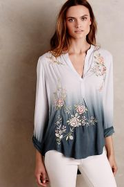 Ombre Garden Peasant Top at Anthropologie