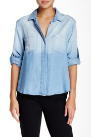 Ombre Split Back Button Down Shirt at Nordstrom Rack