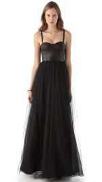Ona leather bustier gown by Alice and Olivia at Shopbop