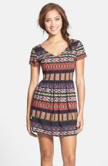 One Clothing Print Skater Dress at Nordstrom