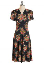 One Floral All For One Dress in Dusk at ModCloth
