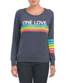 One Love Long Sleeve Knit Top at TJ Maxx