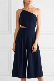 One-shoulder cutout stretch-crepe jumpsuit by Michelle Mason at The Outnet