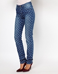 Only  Only Polka Dot Skinny Jean at Asos