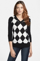 Only Mine Argyle V-Neck Sweater at Nordstrom