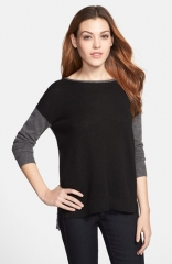 Only Mine Colorblock Cashmere Sweater at Nordstrom