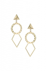 Open Circle and Diamond Earrings at Topshop