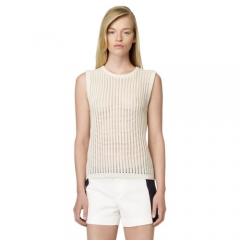 Open Knit Cashmere Shell at Club Monaco