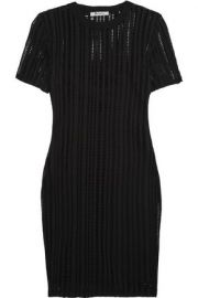 Open-knit cotton-blend mini dress x at The Outnet