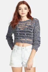Open knit crop sweater at Nordstrom Rack