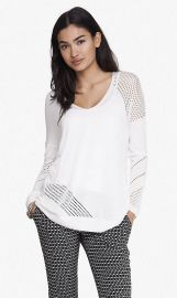 Open stitch tunic sweater at Express