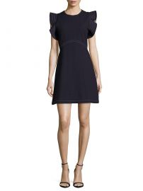 Opening Ceremony - William Ruffle Sleeve Dress navy at Saks Off 5th