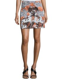 Opening Ceremony Western Mini Cotton Skirt x at Neiman Marcus