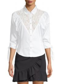 Opening Ceremony - Lace Button-Front Blouse at Saks Fifth Avenue