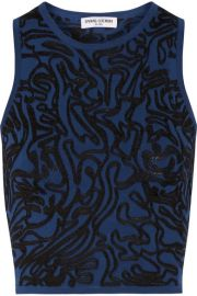 Opening Ceremony  Cropped intarsia stretch-knit top at Net A Porter