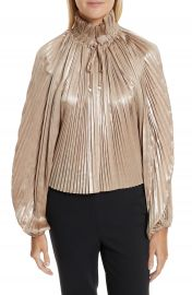 Opening Ceremony Foil Pleated Top at Nordstrom