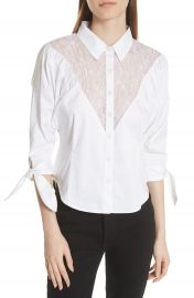 Opening Ceremony Lace Yoke Shirt at Nordstrom