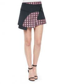 Opening Ceremony Marny Knit Utility Miniskirt BlackMulti at Neiman Marcus