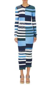 Opening ceremony Striped Knit Fitted Maxi Dress at Barneys
