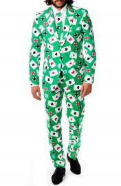 OppoSuits   x27 Poker Face  x27  Trim Fit Suit with Tie at Nordstrom