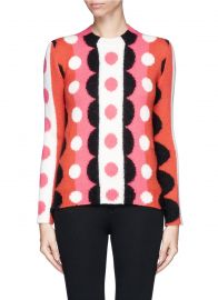 Optic Floral Wool Sweater at Lane Crawford