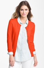 Orange cardigan at Nordstrom at Nordstrom
