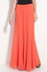 Orange maxi skirt by Hinge at Nordstrom at Nordstrom