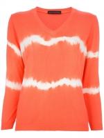 Orange tie dye sweater  at Farfetch