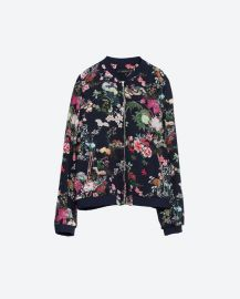 Oriental Print Bomber Jacket at Zara
