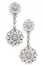 Oscar de la Renta  Classic Jeweled  Swarovski Crystal Drop Earrings at Nordstrom