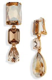 Oscar de la Renta Bold Crystal Drop Earrings at Nordstrom
