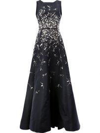 Oscar DE LA Renta Sequin Appliqu  233  Dress  20 333 - Buy AW17 Online - Fast Delivery  Price at Farfetch