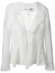 Oscar De La Renta Sheer Layered Jacket - Il Bacio Di Stile at Farfetch