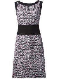 Oscar De La Renta Tweed Print Dress - Roan at Farfetch